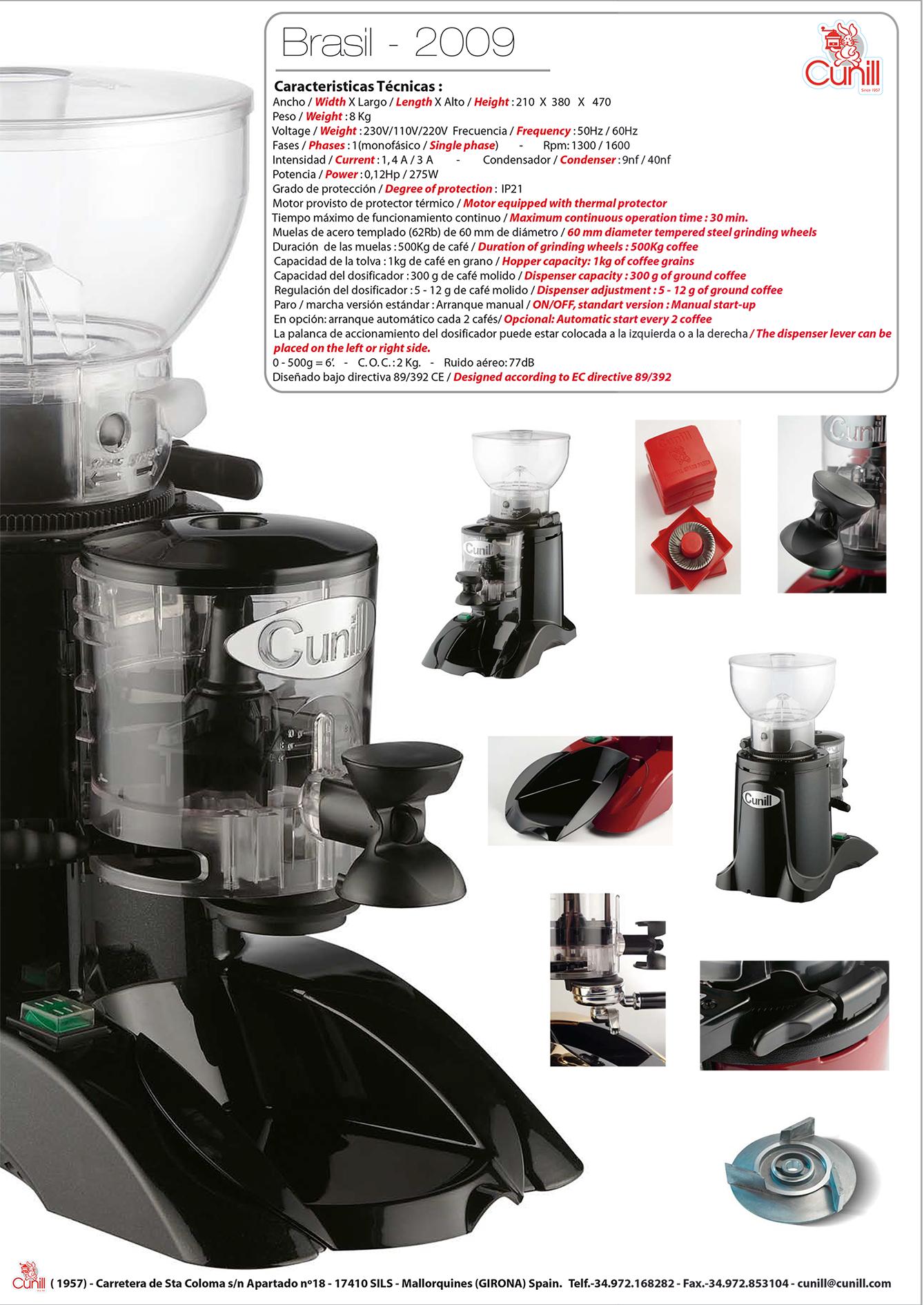 Thông số kỹ thuật máy Xoay cafe Brasil