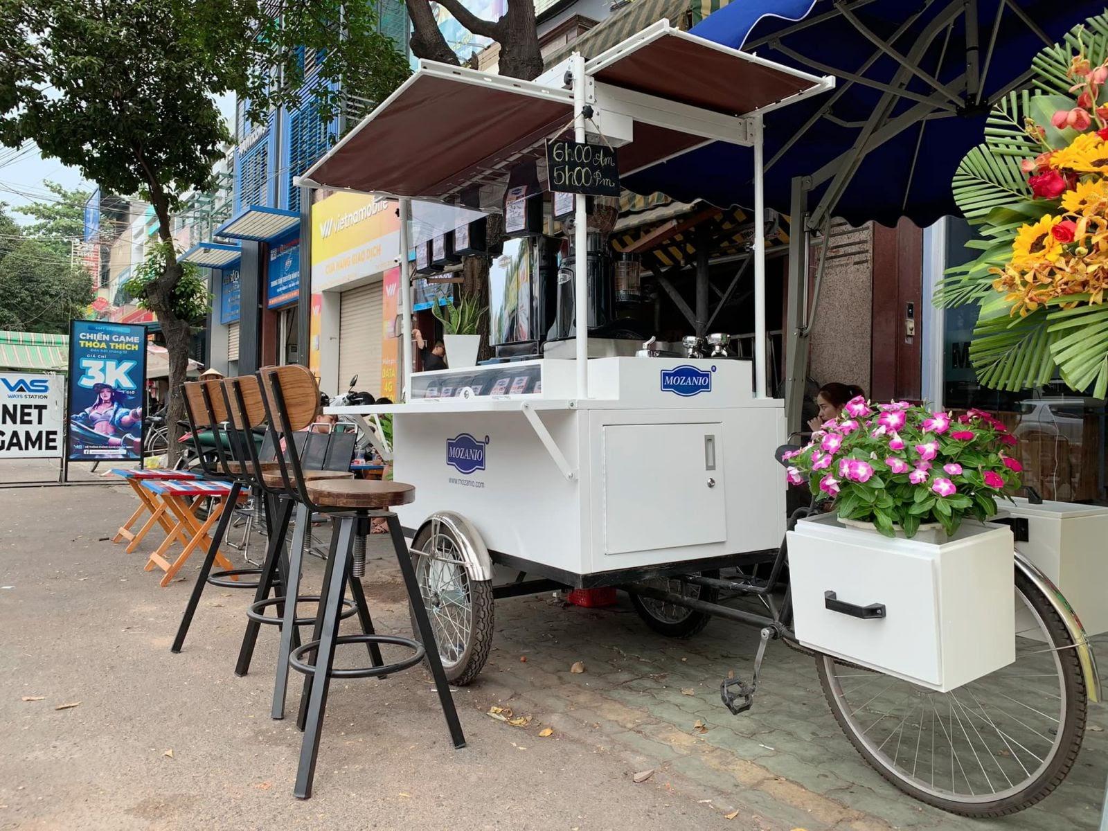 Xe cafe take away MozaBike nhiều tiện ích